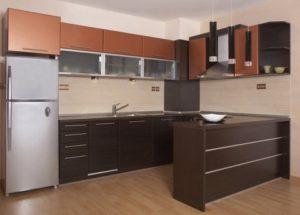 Reforma cocina en Barcelona con barra