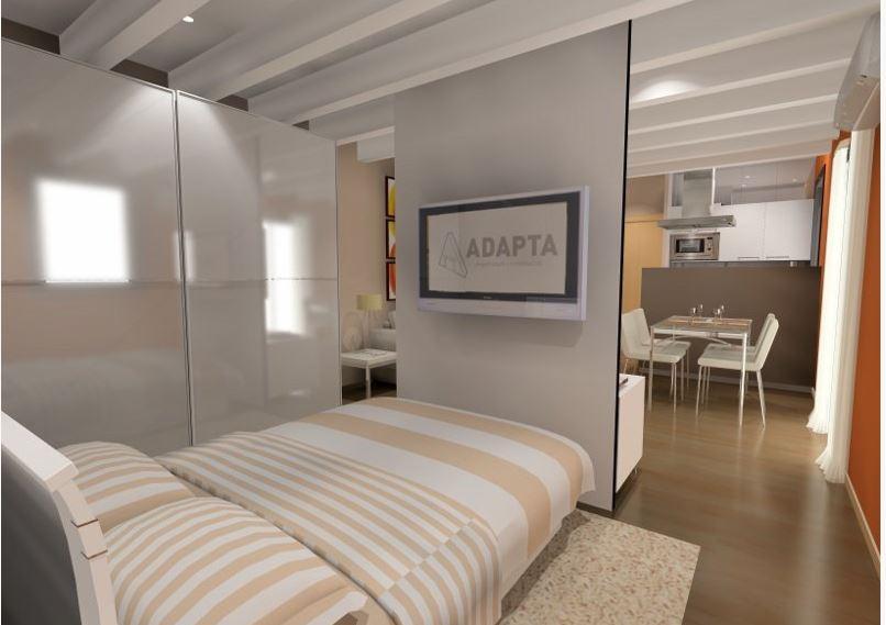 La importancia del diseño e interiorismo en Barcelona se ve reflejado en cómo remodelar un espacio reducido, como es el caso de esta vivienda de la Barceloneta donde se han creado varios ambientes para aprovechar al máximo el espacio